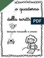 Copertina Quaderno Stampato Min. e Corsivo