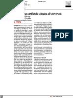 L'intelligenza artificiale spiegata all'Università - Il Corriere Adriatico del 9 febbraio 2021