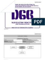 Taller de Lectura y redaccion I (DGB SEP México Preparatoria Bachillerato)