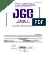 Matematicas III (Preparatoria México SEP DGB)