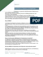 MRSA Informationsmerkblatt für Patienten und Angehörige
