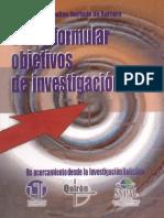Como Formular Objetivos de Investigacion Jacqueline Hurtado de Barrera
