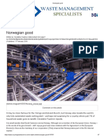 article waste- Norwegian recyclable waste sorting facility - Best practices