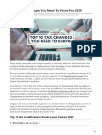 Top 10 Tax Changes You Need to Know for 2020