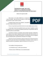 200825 PRESIDENTA Intervención Díaz Ayuso presentación Estrategia Inicio de Curso 20-21