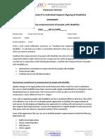 Classroom Activity CHCDIS007