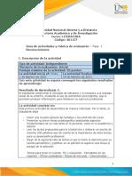 Guía de actividades y rúbrica de evaluación - Unidad 1- Fase 1 - Reconocimiento
