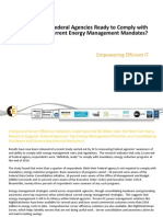 1E Federal Research - Energy Reduction Mandates 2011