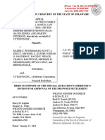 Cytodyn Special Litigation Committee's Brief re Proposed Settlement Case No. 2020-0307-PAF