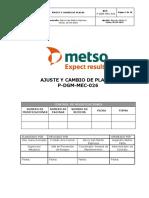 P-DGM-MEC-026. Proc. Ajuste y cambio de placas