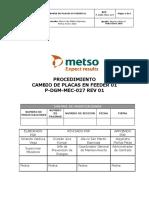P-DGM-MEC-027 Proc  cambio de Placas de Feeder 01 rev 01