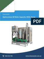 Cleanawater DEOIL3_5_10 Hydrocyclone Oil Separators Brochure