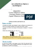 Operaciones aritméticas, lógicas y morfológicas