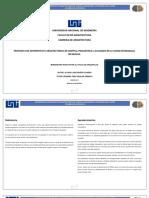 PROPUESTA DE ANTEPROYECTO ARQUITECTONICO DE HOSPITAL PSQUIATRICO NICARAGUA