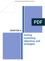 - Setting marketing objectives and strategie