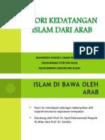 Teori kedatangan islam dari arab