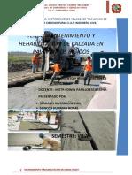 (TRABAJO) MANTENIMIENTO Y REHABILITACION DE CALZADA EN  PAVIMENTO RIGIDO