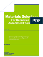 Materials Selection for Refineries and Associated Facilities