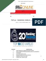 TOP 50 - RANKING VAREJO 2019 - Revista Anamaco