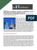 Edilizia Territorio Il Sole 24 Ore Nuovo Codice Appalti Ampi Poteri a Cantone