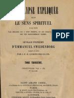 Em Swedenborg L'APOCALYPSE EXPLIQUEE TomeTroisieme Chapitres VII IX Numeros 415 591 LeBoysDesGuays 1857