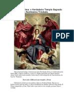 Maria Santíssima - o Verdadeiro Templo Sagrado e Animado Da Santíssima Trindade