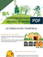 Autorización temporal y derecho de preferencia