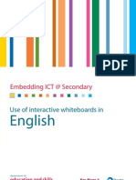 Use of Interactive White Boards in English