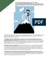 10 điều nên tránh trong kế hoạch thăng tiến