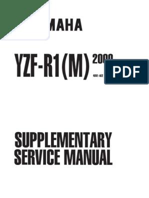 Yamaha Yzf R1 Service 2000 Screw Carburetor