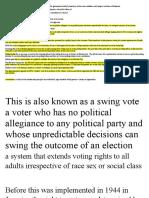 Quiz on Electoral Process Terms