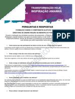 PERGUNTAS E RESPOSTAS DA FORMAÇÃO SOBRE O COMPONENTE ELETIVAS