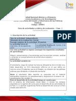 Guía de actividades y rúbrica de evaluación – Fase  1 - Contextualización