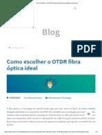 Como escolher o OTDR fibra óptica ideal para pequenos provedores