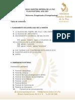 Plan Pastoral 2021 Parroquia Nuestra Señora de La Paz