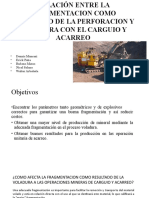RELACION VOLADURA-CARGUIO y ACARREO