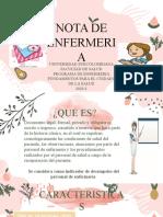 NOTA DE ENFERMERIA O
