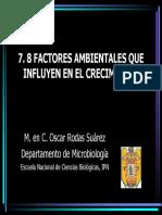 7.8. FACTORES AMBIENTALES QUE INFLUYEN EN EL CRECIMIENTO