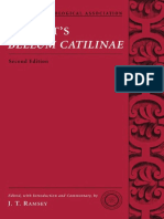 J. T. Ramsey - Sallust's Bellum Catilinae (American Philological Association Classical Texts With Commentary Series) (2007)