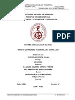 ENSAYO DE UNIDADES DE ALBAÑILERIA (LADRILLOS)
