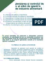 Tema 8. Igienizarea si Controlul de Laborator al Starii de Igiena in Unitatile de Industrie Alimentara