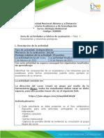 Guia de actividades y Rúbrica de evaluación fase 1- Ecosistemas y relaciones ecológicas