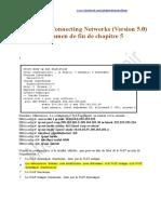 CCNA 4 Correction Examen de Fin de Chapitre 5 Connecting Networks ( Version 5 Francais )