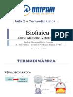 Biofísica aula 2 Termodinamica 2021 Betania