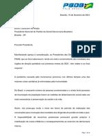 Carta dos presidentes dos diretórios do PSDB