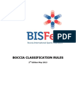 09 BISFed Boccia Classification Rules 2nd Edition 2013 BIISFed 2016 Nov 08
