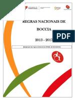 01 - Regras Nacionais Boccia 2013-2017 _ Desporto Escolar 2016 Nov 08