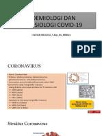 EPIDEMIOLOGI DAN PATOFISIOLOGI COVID-19