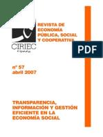 La gestión de la comunicación como elemento generador de transparencia en las organizaciones no lucrativas