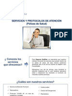 Manual de Servicios y Protocolo de atención - Corp. Cementoxx